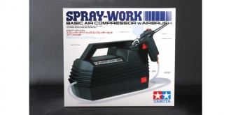 Airbrush TAM Spray Work 2 Spritzpist.+ 7,2V Kompr.