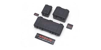 KarZub Plastikboxen schwarz 3St.