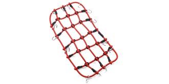 Gepäcknetz mit Haken 20x11cm rot