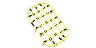Gepäcknetz mit Haken 20x11cm gelb