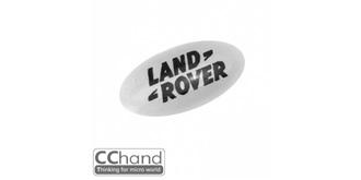 Grill Logo 3D Land Rover 10mm weiss