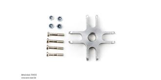 Klappp.Mittelt. 4-Blatt 47mm Alu, für 8mm Adapter