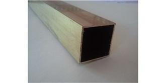 ME-5  Messing 4kant-Profil  3x3mm l=1.0m