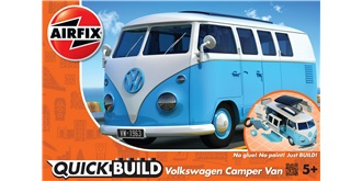 AIRFIX QuickBuild VW Bully Camper Van blau