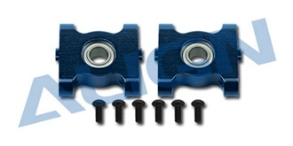 TRex450Sport Hauptwelle Lagerbock ALU blau 2St