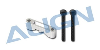 TRex450 Leitwerk Halterung ALU silber