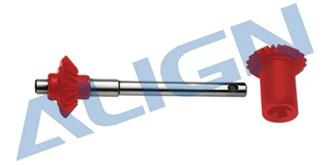 TRex600Pro Starantrieb Getriebe heck rot