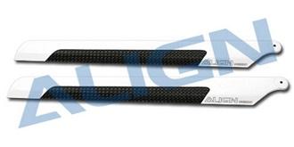 TRex250 Rotorblatt 205D Carbon Fiber weiss