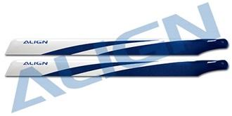 "TRex450 Rotorblatt ALIGN 325 ""blau"" Carbon Fiber"