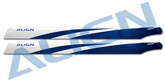 "TRex500 Rotorblatt ALIGN 425 ""blau"" Carbon Fiber"