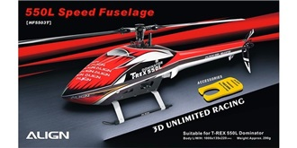 TRex550L Rumpf Speed rot/weiss