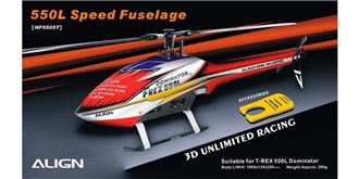 TRex550L Rumpf Speed weiss/rot