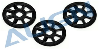 TRex450 Zahnrad Haupt schwarz  3St