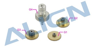 DS455 Servo Gear Set