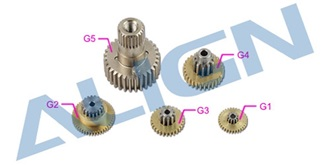DS535 Servo Gear Set