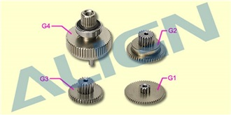DS615 Servo Gear Set