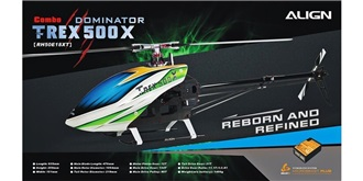 RC HELI Align T-Rex 500X Dominator Combo Beastx