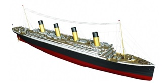 RC Boot RMS Titanic 1880mm 1:144 Kit Holz
