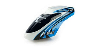 Blade 130X Kabinenhaube blau/weiss