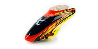 Blade 130X Kabinenhaube rot/gelb
