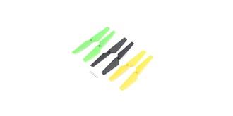 Zeyrok Propeller Set schw/gelb/grün 6St