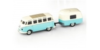 RC Car Carson VW T1 Bus Samba mit Anhänger 1:87 ..