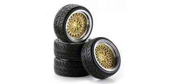 Reifen Carson Classic Style chrome/gold 4St
