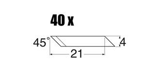 Ersatzklingen 45° für MS40+41 / 40St