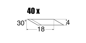 Ersatzklingen 30° für MS40+41 / 40St
