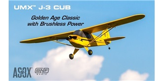 RC Flug E-flite J-3 Cub Micro 670mm AS3X BNF
