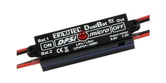 Emcotec DPSI Micro - DualBatt 5,9/7,2V JR