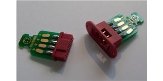 Stecker Flügelverbinder 8polig mit Platine 2paar