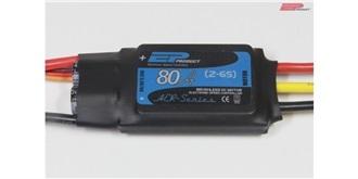 ESC EP AER 80A 2-6S LiPo, S-BEC 6A, 65g