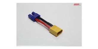Stecker Kupplungskabel XT60 (Accu) - EC3 (Regler)