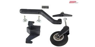 Spornfahrwerk medium mit Feder/Anlenkung, Rad 30mm