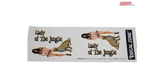 "Decor Decal Zone ""Lady of the Jungle"""
