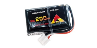 Accu LiPo ETOP  200-2S (7,4V) 30C JST-PH