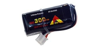 Accu LiPo ETOP  300-2S (7,4V) 30C JST-PH
