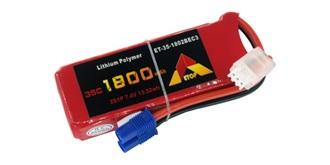 Accu LiPo ETOP 1800-2S (7.2V) 35C EC3
