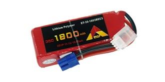 Accu LiPo ETOP 1800-3S (11.1V) 35C EC3