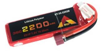 Accu LiPo ETOP 2200-2S (7,4V) 35C Deans