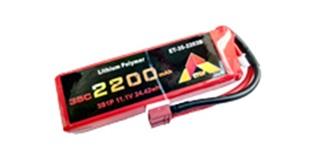 Accu LiPo ETOP 2200-3S (11,1V) 35C Deans