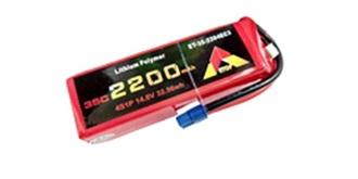 Accu LiPo ETOP 2200-4S 14.8V 35C EC3
