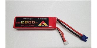 Accu LiPo ETOP 2600-3S (11,1V) 35C EC3