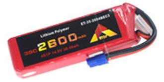 Accu LiPo ETOP 2600-4S (14,8V) 35C EC3