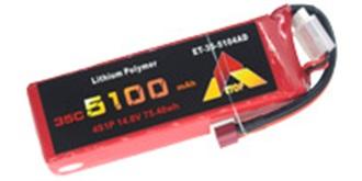 Accu LiPo ETOP 5100-4S (14,8V) 35C Deans
