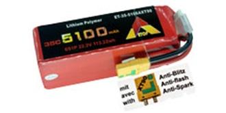 Accu LiPo ETOP 5100-6S (22,2V) 35C XT90 Anti-Sp