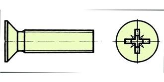 Schraube Kunststoff M 3.0x 30mm Senkkopf 10St