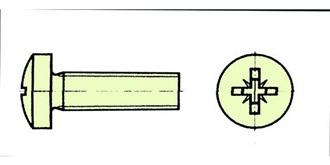 Schraube Kunststoff M 4.0x 60mm Zylinderkopf 10St