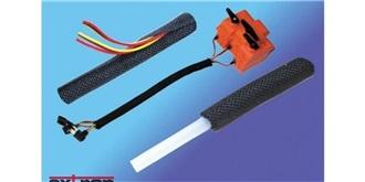 Kabel Gewebeschlauch 5mm selbstschliessend 1m